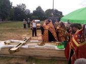 Освячення надкупольних хрестів у селі Рогачі!