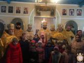 Архіпастир звершив святкову літургію у Свято-Різдво-Богородичному храмі м.Андрушівка.