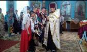 Священик благословив випускників 9-го класу школи села Никонівки у добру путь