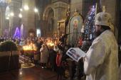 Православні житомиряни зустріли свято Христового Народження молитвою за Божественною літургією у Спасо-Преображенському кафедральному соборі!