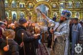 В день святкування Стрітення Господнього митрополит Никодим звершив Божественну літургію в Спасо-Преображенському кафедральному соборі міста Житомира.