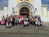 Подячний молебень з нагоди закінчення навчального року для вихованців Воскресної школи Спасо-Преображенського кафедрального собору міста Житомира.