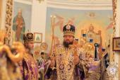 Тульчин. Митрополит Никодим взяв участь у святковому богослужінні та привітав вікарія Тульчинської єпархії єпископа Сергія із першою річницею архієрейської хіротонії!