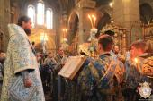 Митрополит Никодим очолив святкове вечірнє богослужіння накануні Благовіщення Пресвятої Богородиці!