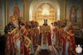 Благочинні Житомирської єпархії привітали Правлячого архієрея із Світлим Христовим Воскресінням. Архієрейське служіння у Свято-Хрестовоздвиженському кафедральному соборі!