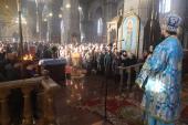 Всенічна напередодні та архієрейське богослужіння в  день свята Введення Богоматері у храм!
