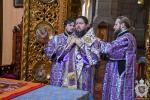 У неділю п'яту Великого посту митрополит Никодим звершив Божественну літургію в Спасо-Преображенському кафедральному соборі міста Житомира.